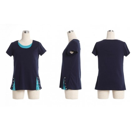 Maternity Nursing Top - Stylish Bottom - Short Sleeve