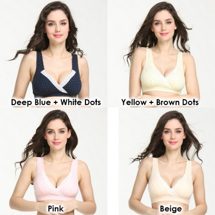 Maternity Nursing Bra - Wireless Crossover Stylish Look Bra (34A-40D)