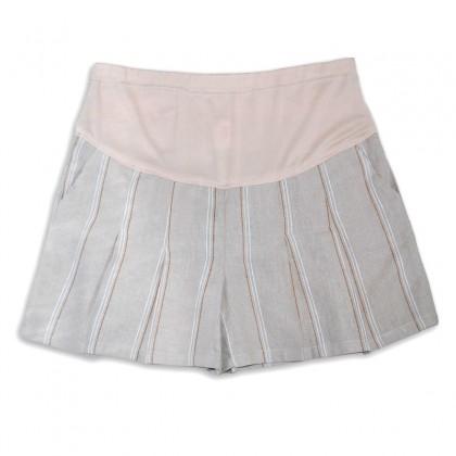 Maternity Wide Leg Shorts - Culottes - Adjustable Waistband