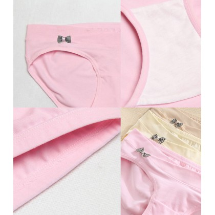 3pcs/set Maternity Low Cut Crossover Band Supportive Bowknot Panties