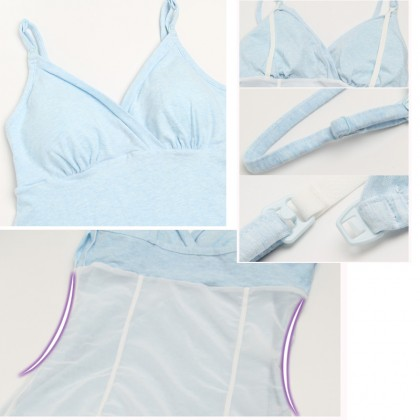 Postpartum Nursing Double Layer Slimming  Wireless Camisole Bra