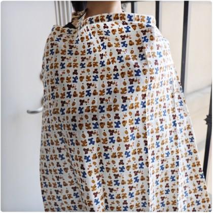 100% Cotton Nursing Cover / Breastfeeding Apron - Thin Type