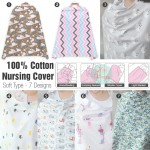 100% Cotton Nursing Cover / Breastfeeding Apron - Soft Type