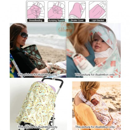 100% Cotton Nursing Cover / Breastfeeding Apron - Joint Type