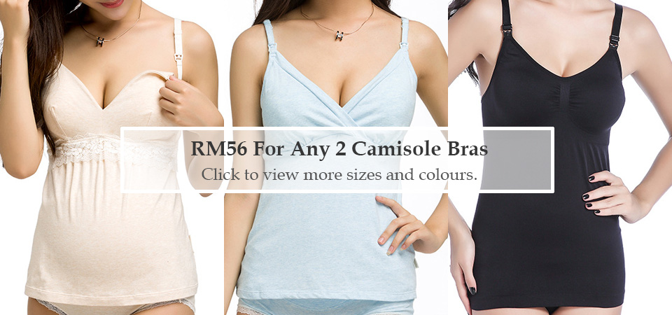 RM56 for Any 2 Camisole Bras