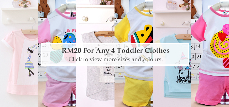 RM20 for any 4 toddler clothes