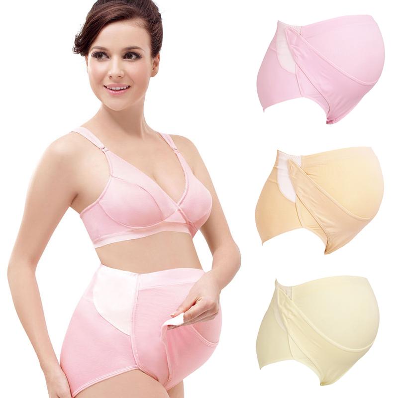 3cff23370200 Maternity Supportive Panties - Built-in Hook & Loop Adjustable Support. ‹ ›