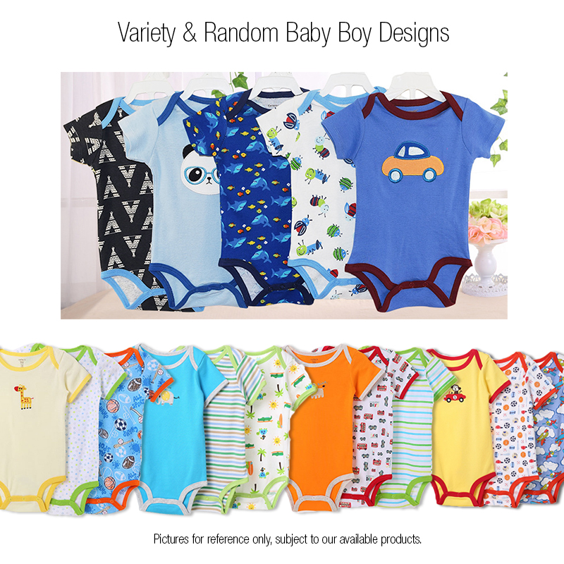 40ed7267b146 Carter s Blue Fly 5 in 1 Short Sleeve Baby Rompers (Boy Girl) (Random  Designs)